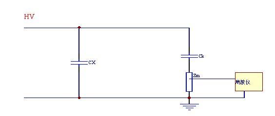 发电机的局放测试接线原理图